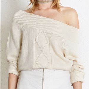 Chan Luu White Swan Jennifer Sweater Size S